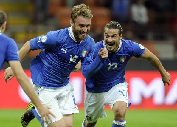 Italia – Danimarca 3-1,  De Rossi ancora a segno