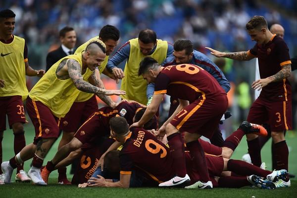 Le pagelle di Lazio-Roma 1-4, Manolas un muro, Nainggolan imprescindibile, Perotti sontuoso
