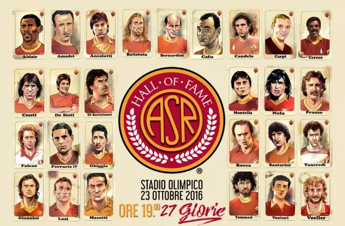 Roma-Palermo, stasera la Hall of Fame giallorossa