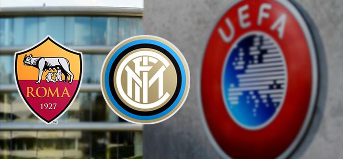 I giallorossi scaldano i motori per la gara contro l'Inter