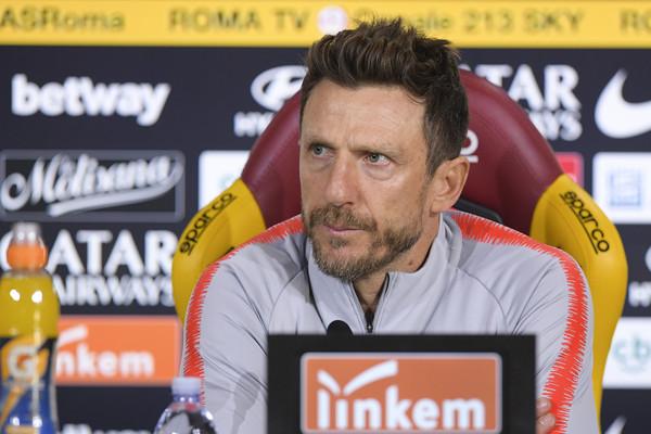 Di Francesco in conferenza stampa prima di Atalanta-Roma