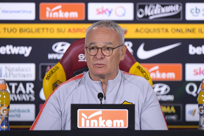 Ranieri in conferenza stampa in vista di Roma-Napoli