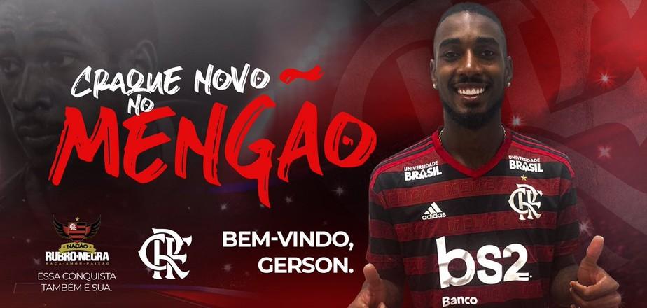 Gerson al Flamengo per 11,8 milioni di euro più il 10% sulla futura rivendita