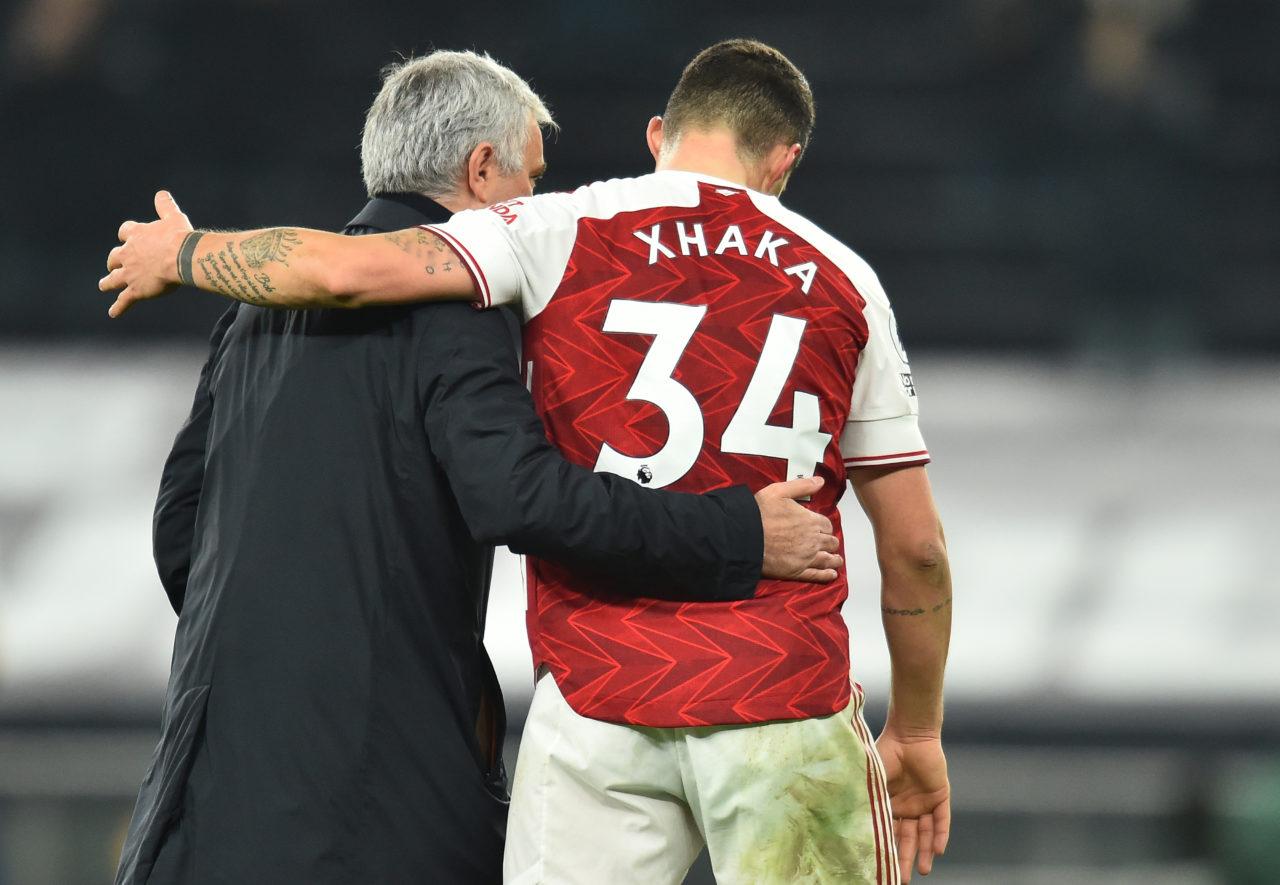 Mourinho pronto ad offrire due giocatori per avere Xhaka dall'Arsenal
